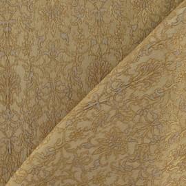 Tissu Damassé Royal mordoré x 10cm