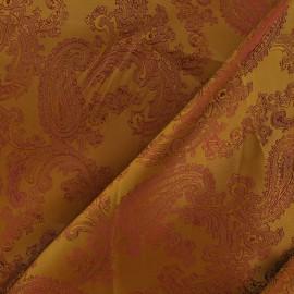 Tissu Doublure Jacquard auburn x 10cm
