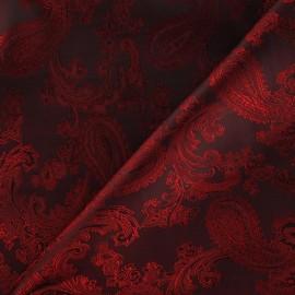 Tissu Doublure Jacquard rouge carmin x 10cm