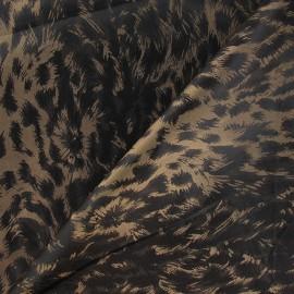 Tissu Doublure Léopard brun x 10cm