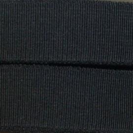 Élastique plat tissé noir 25 mm