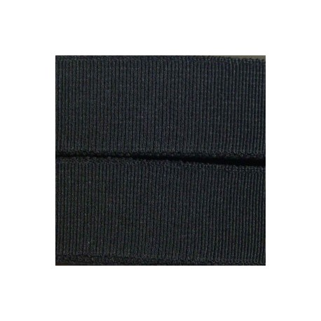 Woven flat elastic 25 mm - black