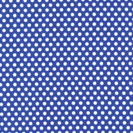 Tissu Kiss Dot Cobalt x 10cm