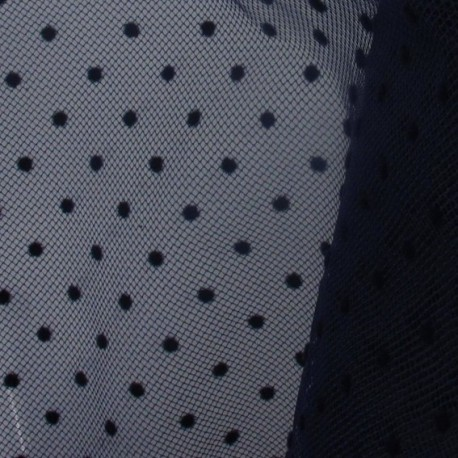 Plumetis Tulle - Night Blue x 10cm