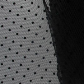 Tulle plumetis noir x10cm
