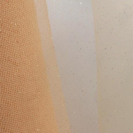 Tulle Haute qualité pailleté chair x10cm