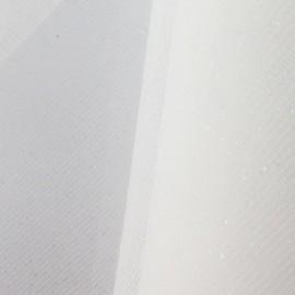 Tulle luxe pailleté blanc irisé x10cm