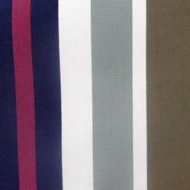 Tissu toile transat Jupiter marine/taupe (43cm) x 10cm