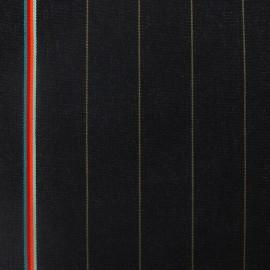Tissu toile transat Monsieurs noir (43cm) x 10cm