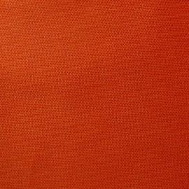 Tissu toile uni orange/rouge (180cm) x 10cm