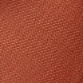 Tissu toile uni tomette/saumon (180cm) x 10cm
