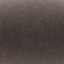 Tissu toile uni noir/prunelle/taupe (180cm) x 10cm