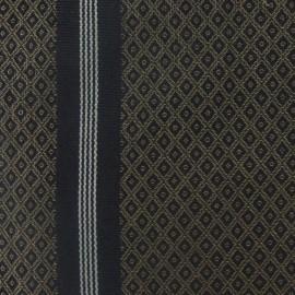 Toile Saint Laurent taupe/noir (58cm) x 10cm