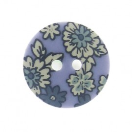 Flowered button - mauve