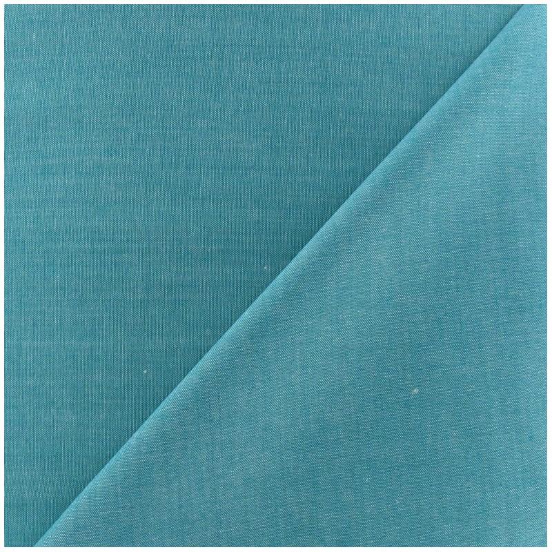 tissu chambray bleu canard x 10cm ma petite mercerie. Black Bedroom Furniture Sets. Home Design Ideas