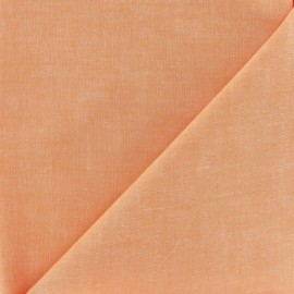 Tissu Chambray orange x 10cm