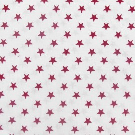 Stars Fabric - Purple / White x 10cm