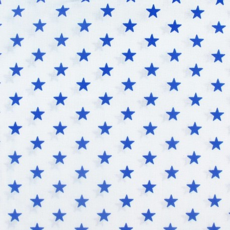 Stars Fabric - Royal / White x 10cm