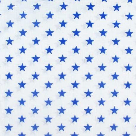 Stars Fabric - Royal / White x 10cm