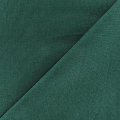 Tissu Coton uni vert x 10cm
