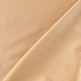 Lycra glossy fabric - beige x 10cm