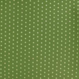 Tissu Etoiles Froufrou Jardin d'olivier A x 10cm