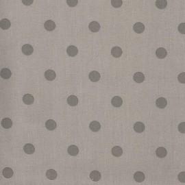Tissu coton pois taupe/gris x 10cm