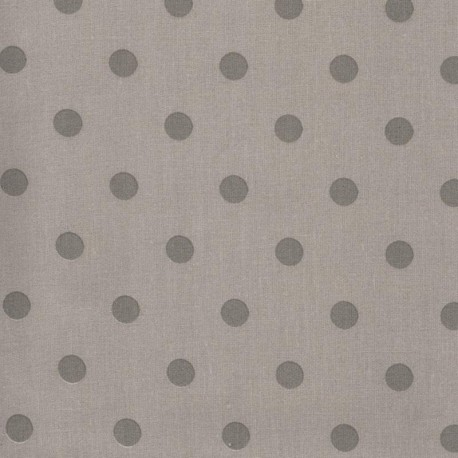 big dots fabric taupe grey x 10cm ma petite mercerie