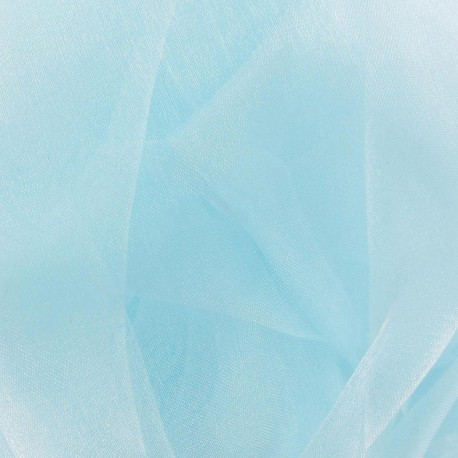 Tissu Organza azurin x 50cm