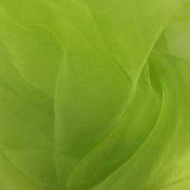 Organza Fabric - Lime Green x 50cm