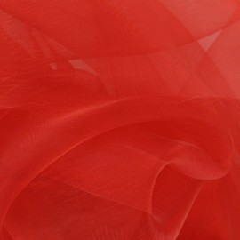 Organza Fabric - Red x 50cm