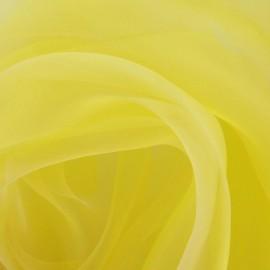 Tissu Organza jaune x 50cm