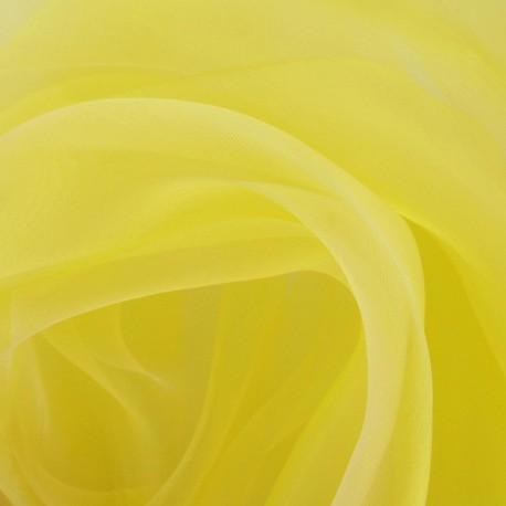 Organza Fabric - Yellow x 50cm