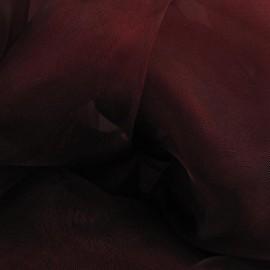 Tissu Organza grenat x 50cm