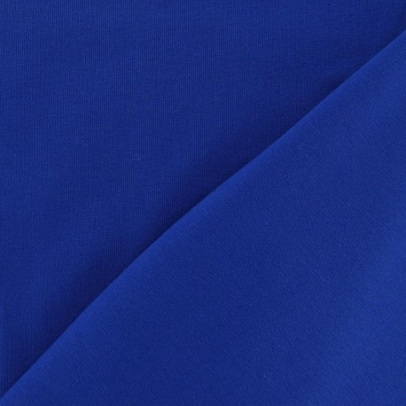 Tissu Jersey uni bleu roy x 10cm