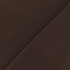Tissu jersey uni marron x 10cm