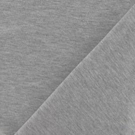 Tissu jersey uni gris perlé x 10cm
