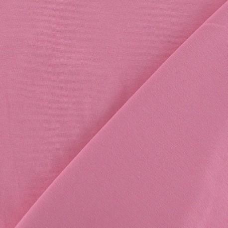 Tissu Jersey uni rose x 10cm