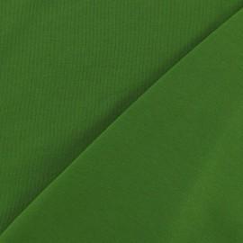 Tissu jersey uni vert foncé x 10cm