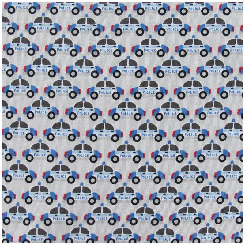 Jersey Tissu Bleu Gris POLICE 1 m