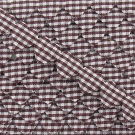 Garland Ribbon, gingham hearts - Brown