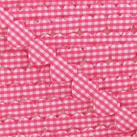Garland Ribbon, gingham hearts - fuchsia