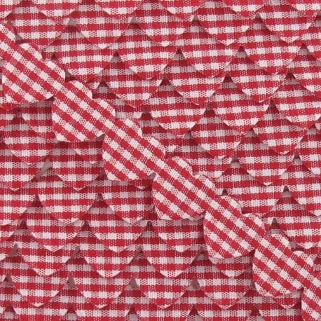 Garland Ribbon, gingham hearts - Red