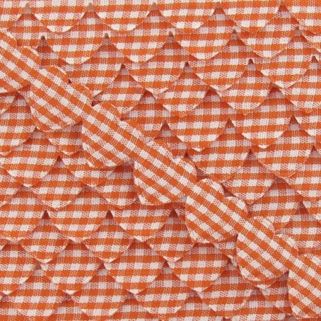 Garland Ribbon, gingham hearts - Orange