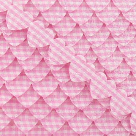 Garland Ribbon, gingham hearts - Pink