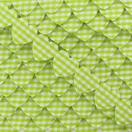 Garland Ribbon, gingham hearts - Lime