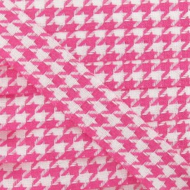 Houndstooth Ribbon 25mm - Fuchsia