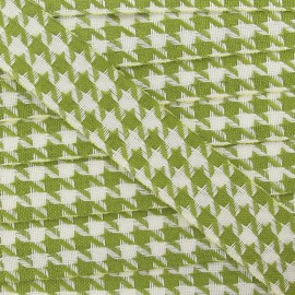 Houndstooth Ribbon 25mm - Green