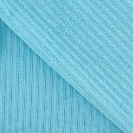 Minkee ribbed velvet fabric - aqua x 10cm