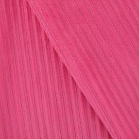 Tissu velours minkee à côtes fuchsia x 10cm